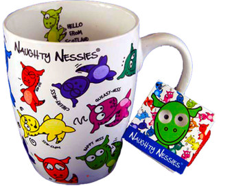 Tea and Coffee Mug with The Naughty Nessies Loch Ness Mascots for Your Kitchen