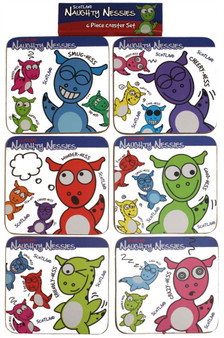 Tea and Coffee Mug Coasters Naughty Nessies Loch Ness Mascots for Your Kitchen
