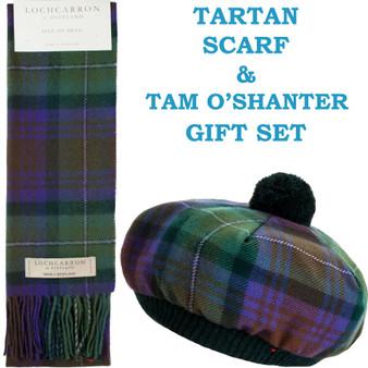 Isle Of Skye Tartan Ladies Tammy Hat & Scarf Set Lambswool