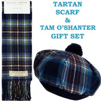 Holyrood Tartan Ladies Tammy Hat & Scarf Set Lambswool