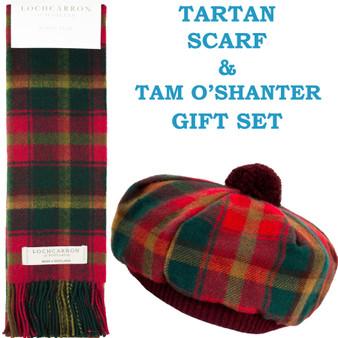 Maple Leaf Tartan Ladies Tammy Hat & Scarf Set Lambswool