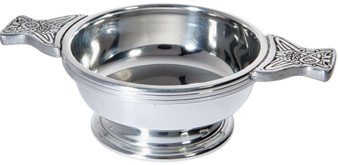 Quaich Scottish Pewter Standard Size 90mm Tasting Bowl Ideal Christening Gift