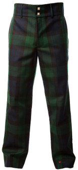 Mens High Quality Tartan Trousers Black Watch