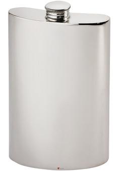 Kidney Shape Flask 8oz Pewter in Plain Polished Finish