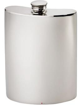 Large Kidney Shape Flask 10oz Pewter in Plain Polished Finish