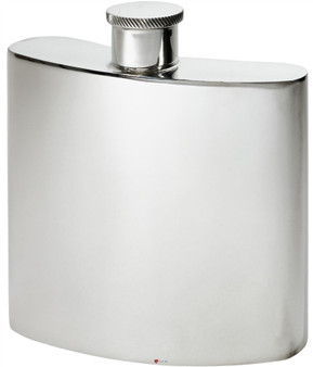Giant Kidney Shape Flask 26oz Pewter in Plain Polished Finish