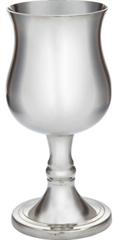 Small Georgian Pewter Goblet 110mm Bright with Feature Touchmark