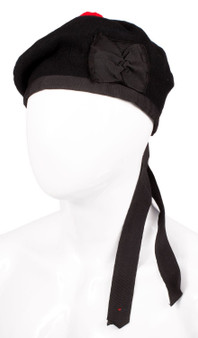 Balmoral Plain Black Hat