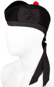 Glengarry Hat Plain Black