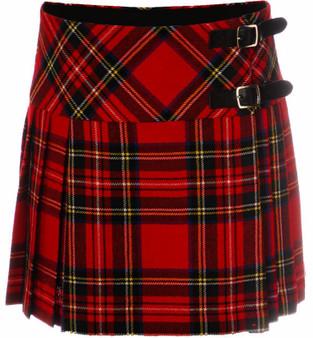 Ladies Deluxe Billie Kilt Skirt in Royal Stewart Tartan