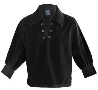 Boys Basic Ghillie Shirt Black