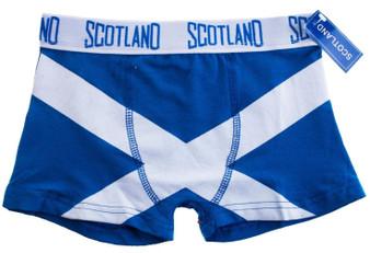 Boys Boxer Shorts Saltire Fashion Design Royal Blue