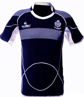 Kids Scotland Rugby Shirt Crew Neck Half Sleeve
