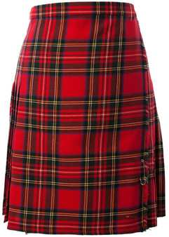 12oz Ladies Knee Length Kilt Royal Stewart Tartan Polyester Mix