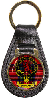 Leather Key Fob Scottish Clan Crest Scotland Made in Scotland