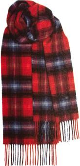 Scottish Soft Cashmere Scarf Ruby Tartan