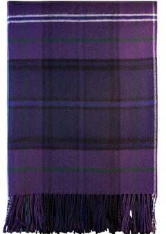 Luxury Tartan Soft Lambswool Plaid Throw Blanket Scotland Forever Travel Blanket Rug