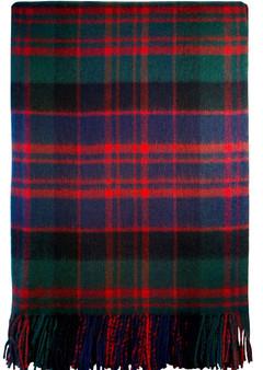 Luxury Tartan Soft Lambswool Plaid Throw Blanket MacDonald Modern Travel Blanket Rug