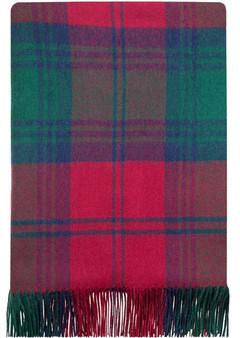 Luxury Tartan Soft Lambswool Plaid Throw Blanket Lindsay Modern Travel Blanket Rug