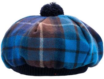Tammy Hat Buchanan Blue Tartan Lambswool