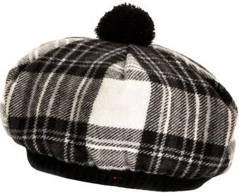Tammy Hat Stewart Dress Grey Tartan Lambswool