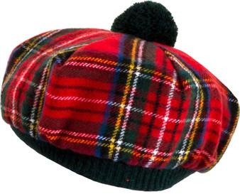 Tammy Hat Stewart Royal Modern Tartan Lambswool