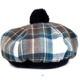 Tammy Hat Stewart Blue Dress Tartan Lambswool