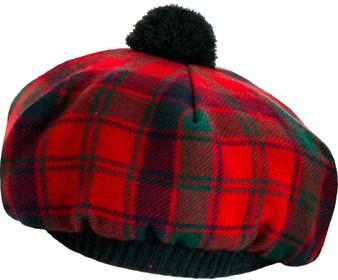 Tammy Hat Robertson Red Modern Tartan Modern Lambswool