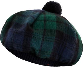 Tammy Hat Black Watch Modern Tartan Lambswool