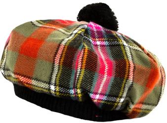 Tammy Hat Bruce Of Kinnaird Ancient Tartan Lambswool
