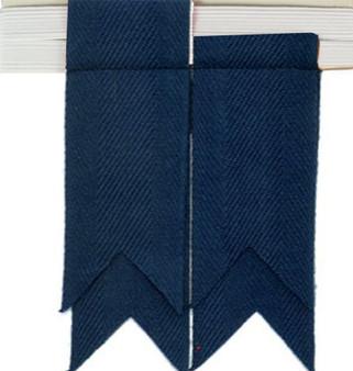 Boys Kilt Flash Plain Single Garter Pure Wool