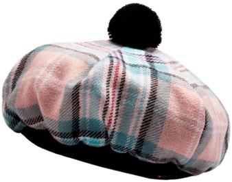 Diana Rose Tartan Tam O' Shanter Hat Luxury Brush wool