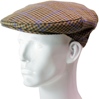 Tweed Flat Cap Mens Kyle Check