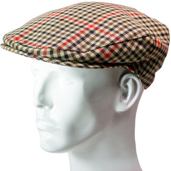 Tweed Flat Cap Mens Denholm Check