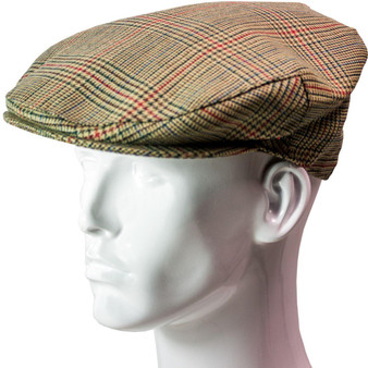 Tweed Flat Cap Mens Minto Check