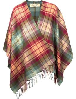 Ladies Shawl Cape Lambswool Auld Scotland Tartan Made To Order