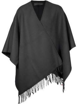 Ladies Shawl Cape Lambswool Charcoal Made To Order