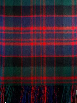 Ladies Shawl Cape Lambswool Macdonald Clan Modern Tartan Made To Order