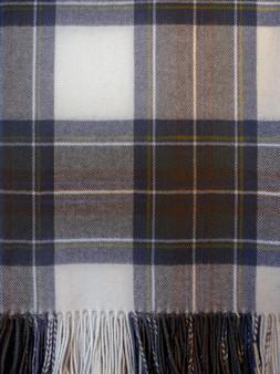 Ladies Shawl Cape Lambswool Stewart Blue Dress Tartan Made To Order