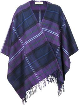 Ladies Shawl Cape Lambswool Scotland Forever Modern Tartan Made To Order