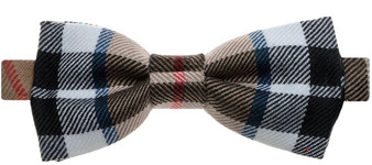 Wool Bow Tie Thomson Camel Modern Tartan