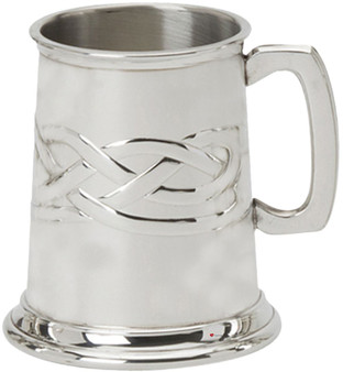 Mens Pewter Tankard with Celtic Knote Design 1/2 Pint Great Gift