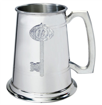 18th Birthday key 1pt Pewter Tankard Plain With Embossed Key Can Be Engraved Great Gift