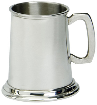 Half Pint Pewter Tankard Traditional Shape Plain Design Ideal for Engraving Great Gift