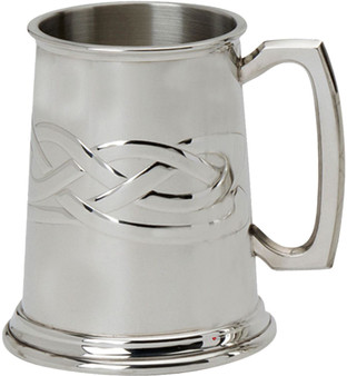 Mens Pewter Tankard With Celtic Knot Design 1 Pint Great Gift