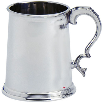 1pt Tankard Pewter Scottish Shape Plain Wide Base Ideal for Engraving Glass Base Great Gift