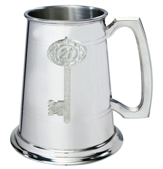 21st Birthday key 1pt Pewter Tankard Plain With Embossed Key Can Be Engraved Great Gift