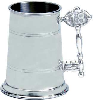 18th Birthday Key Handle 1pt Pewter Tankard Plain Can Be Engraved Great Gift
