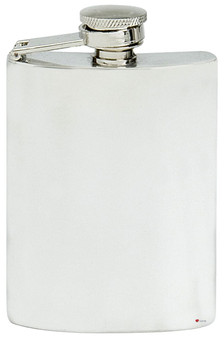 Plain Pewter Hip Flask 4oz Plain Polished Finish Engravable Captive Screw Top Great Gift