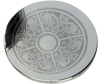 Drinks Coaster With Celtic Design Pewter Engraving Round